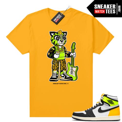 No Cap Toys Collab Rockstar Bobcat Shirt Gold Volt Gold 1s