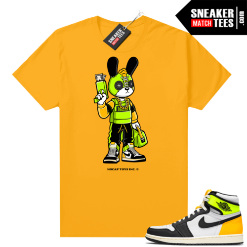 No Cap Toys Collab Trap Bunny Shirt Gold Volt Gold 1s
