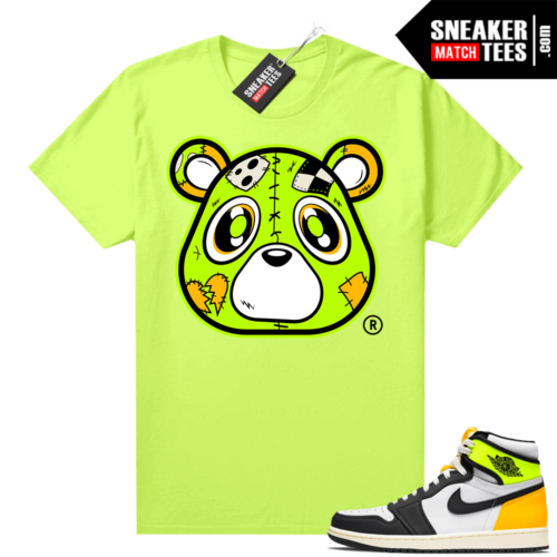 Volt Gold 1s shirt Neon Yellow Heartless Bear