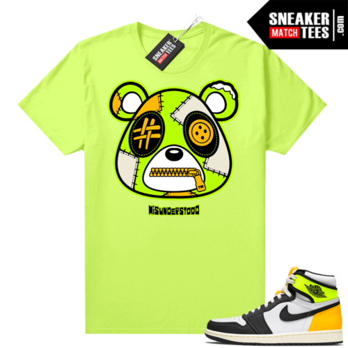 Volt Gold 1s shirt Neon Yellow Misunderstood Bear