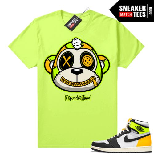 Volt Gold 1s shirt Neon Yellow Misunderstood Monkey