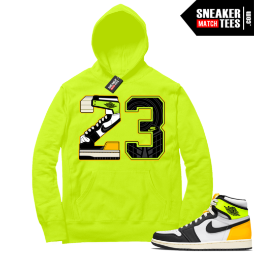 Volt Gold Hoodies to match Jordan 1 Volt 23