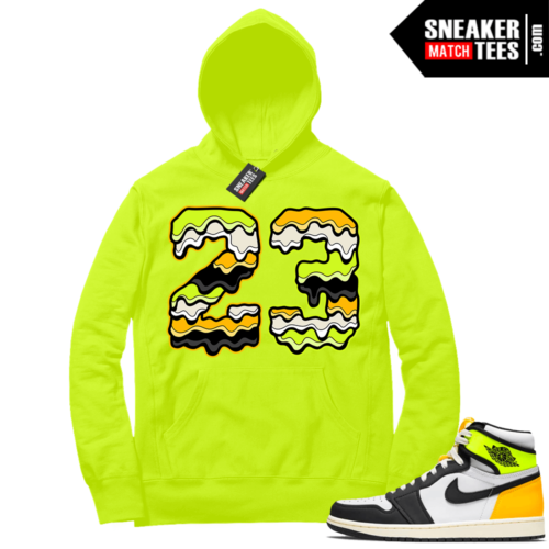 Volt Gold Hoodies to match Jordan 1 Volt 23 Drip