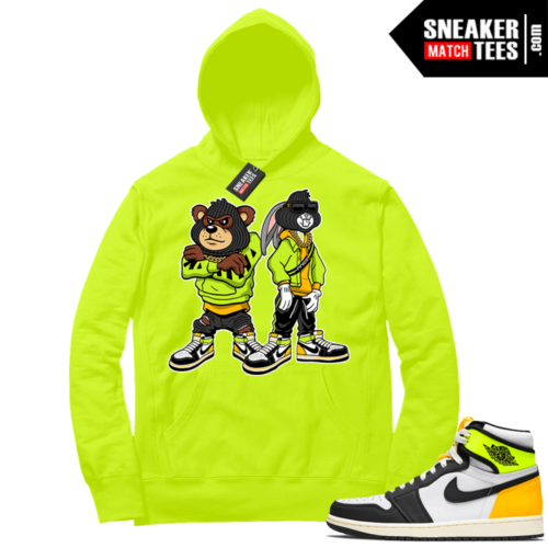 Volt Gold Hoodies to match Jordan 1 Volt Big Steppas