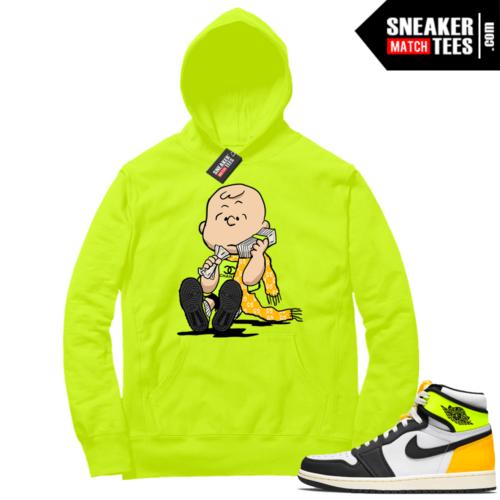 Volt Gold Hoodies to match Jordan 1 Volt Designer Charlie