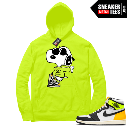 Volt Gold Hoodies to match Jordan 1 Volt Fly Snoopy