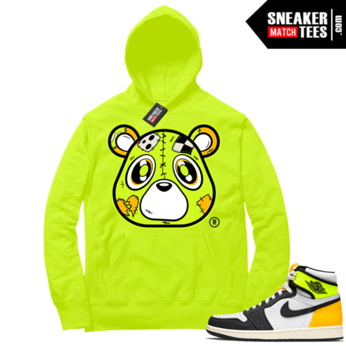 Volt Gold Hoodies to match Jordan 1 Volt Heartless Bear