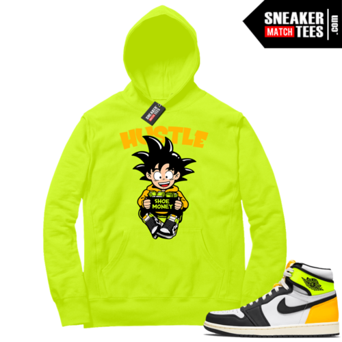 Volt Gold Hoodies to match Jordan 1 Volt Hustle Shoe Money