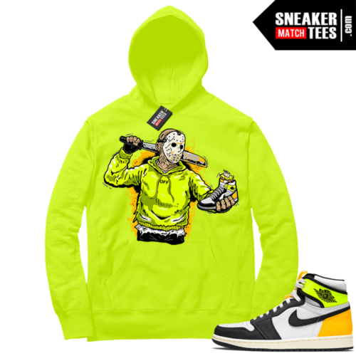 Volt Gold Hoodies to match Jordan 1 Volt Jason Cop
