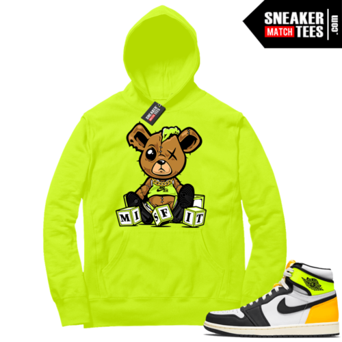 Volt Gold Hoodies to match Jordan 1 Volt Misfit Teddy