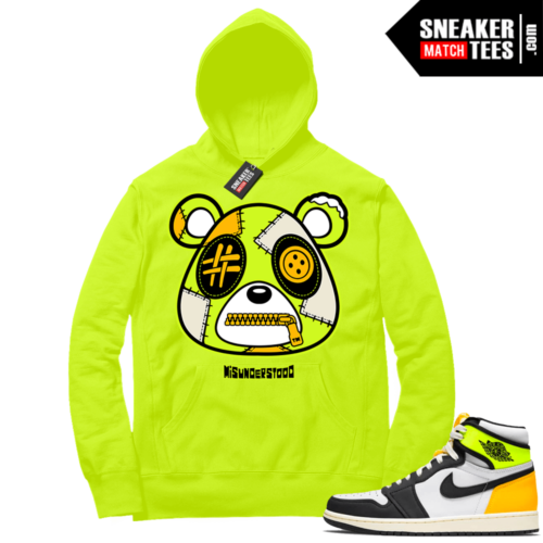 Volt Gold Hoodies to match Jordan 1 Volt Misunderstood Bear