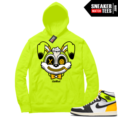 Volt Gold Hoodies to match Jordan 1 Volt Misunderstood Bunny