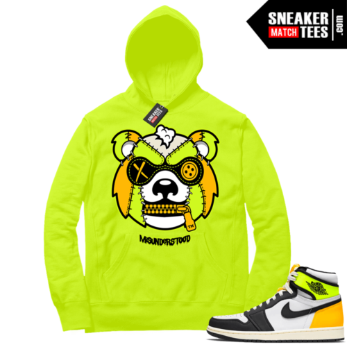 Volt Gold Hoodies to match Jordan 1 Volt Misunderstood Grizzly