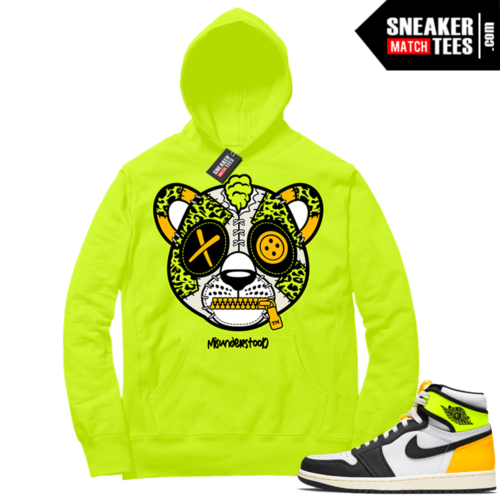 Volt Gold Hoodies to match Jordan 1 Volt Misunderstood Leopard