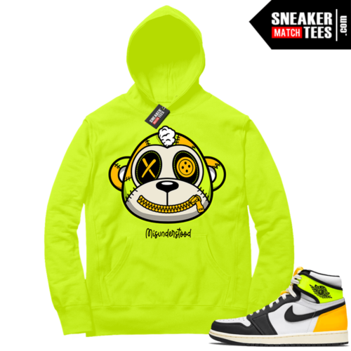 Volt Gold Hoodies to match Jordan 1 Volt Misunderstood Monkey