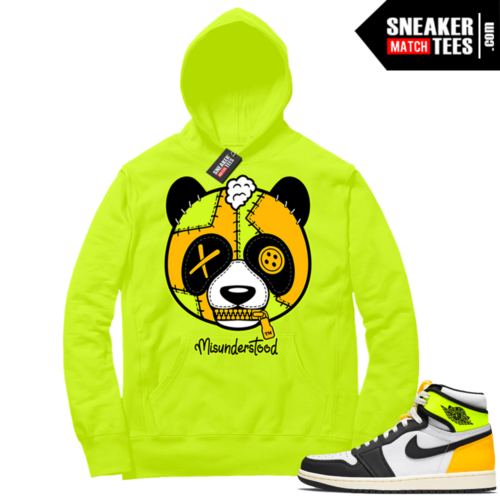 Volt Gold Hoodies to match Jordan 1 Volt Misunderstood Panda