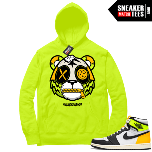 Volt Gold Hoodies to match Jordan 1 Volt Misunderstood Tiger