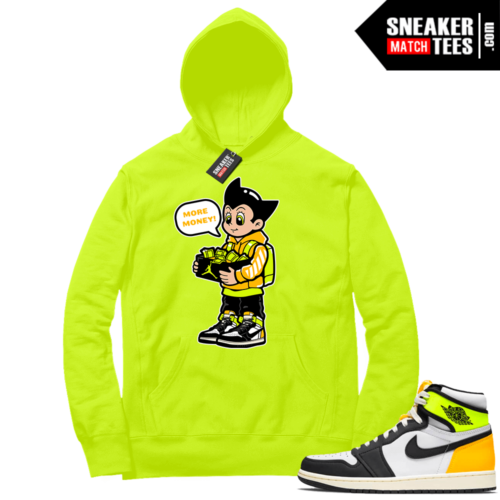 Volt Gold Hoodies to match Jordan 1 Volt More Shoe Money