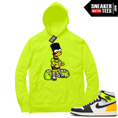 Volt Gold Hoodies to match Jordan 1 Volt Paid