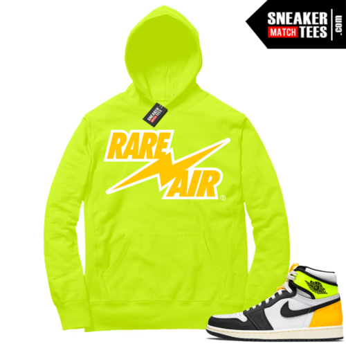 Volt Gold Hoodies to match Jordan 1 Volt Rare Air Bolt