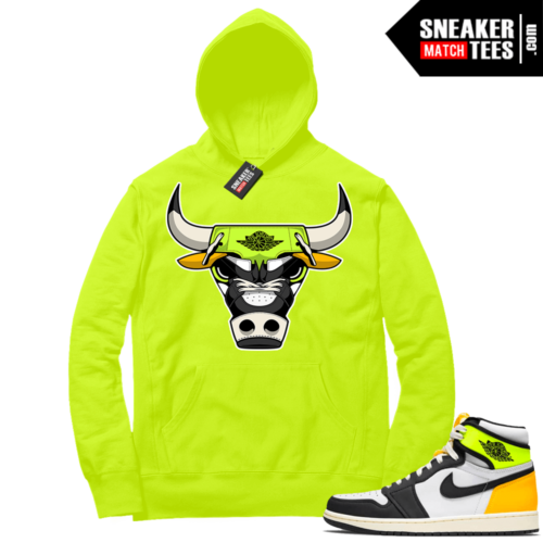 Volt Gold Hoodies to match Jordan 1 Volt Rare Air Bull