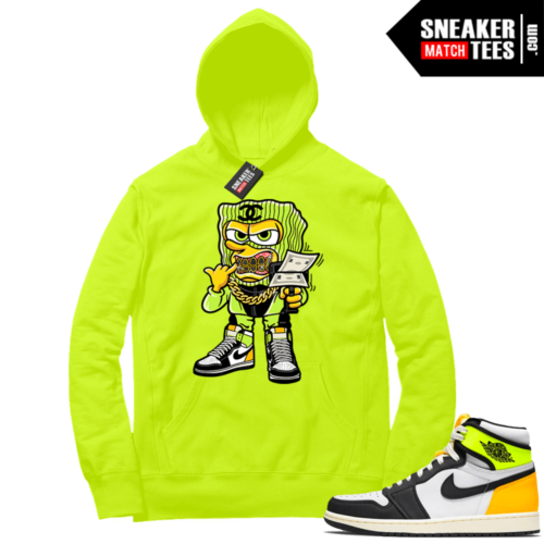 Volt Gold Hoodies to match Jordan 1 Volt Savage