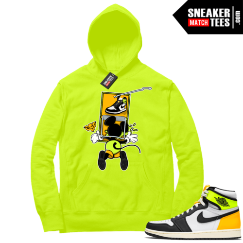 Volt Gold Hoodies to match Jordan 1 Volt Sneaker Trap