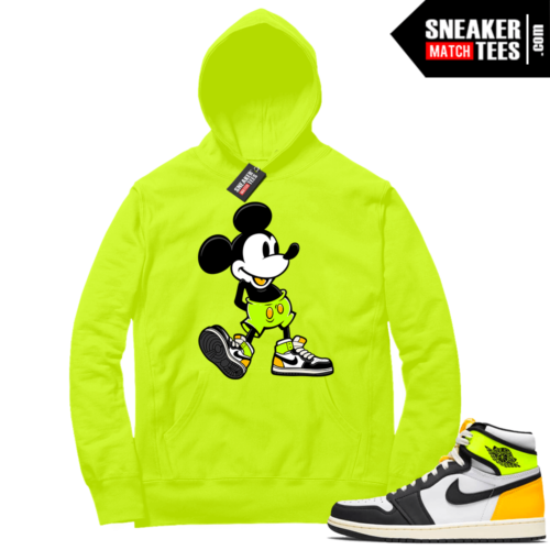Volt Gold Hoodies to match Jordan 1 Volt Sneakerhead Mickey