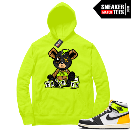 Volt Gold Hoodies to match Jordan 1 Volt Trappin Misfit Teddy
