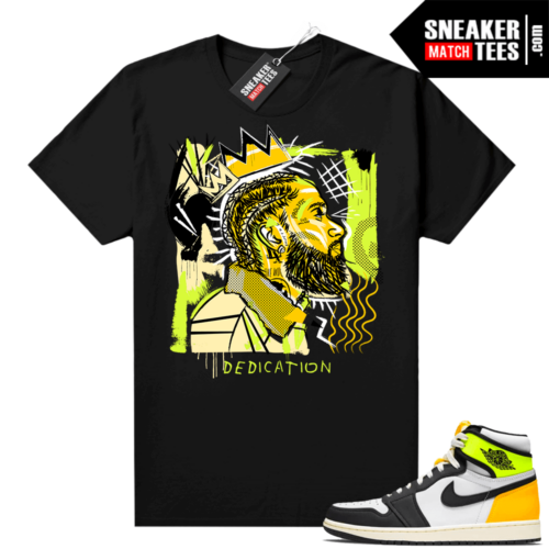 Volt Gold Shirts to match Jordan 1 Black Basquiat Nipsey