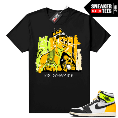 Volt Gold Shirts to match Jordan 1 Black Basquiat Tyson
