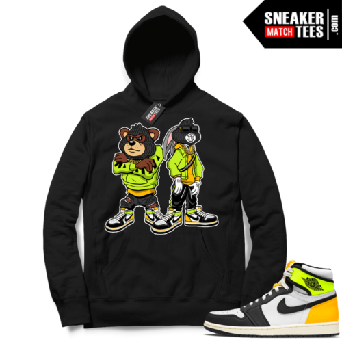 Volt Gold Hoodies to match Jordan 1 Black Big Steppas