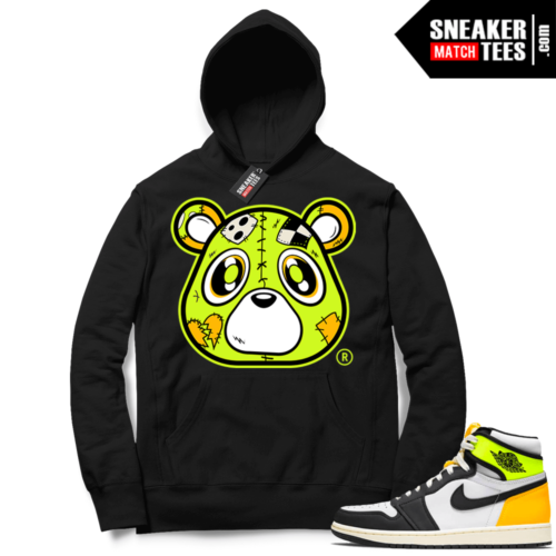Volt Gold Hoodies to match Jordan 1 Black Heartless Bear