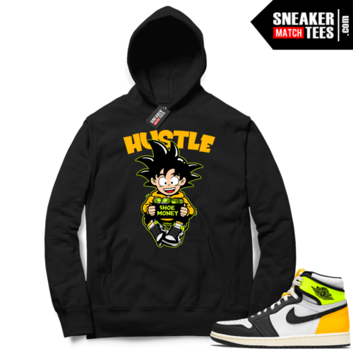 Volt Gold Hoodies to match Jordan 1 Black Hustle Shoe Money