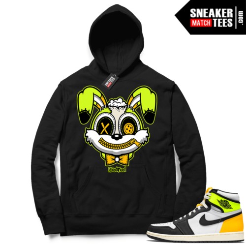 Volt Gold Hoodies to match Jordan 1 Black Misunderstood Bunny