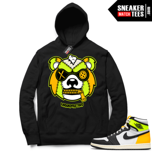 Volt Gold Hoodies to match Jordan 1 Black Misunderstood Grizzly