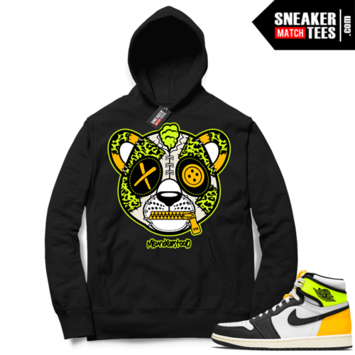 Volt Gold Hoodies to match Jordan 1 Black Misunderstood Leopard
