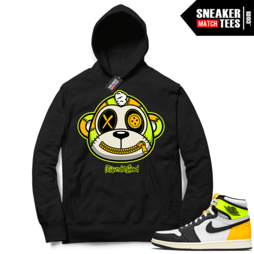 Volt Gold Hoodies to match Jordan 1 Black Misunderstood Monkey
