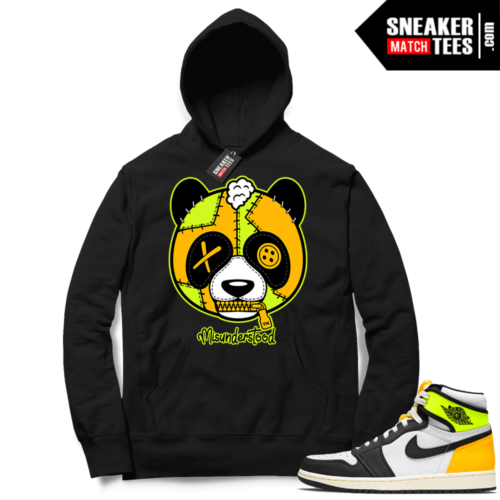 Volt Gold Hoodies to match Jordan 1 Black Misunderstood Panda