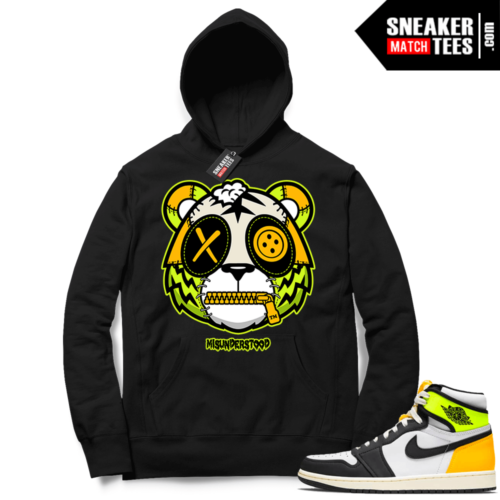 Volt Gold Hoodies to match Jordan 1 Black Misunderstood Tiger