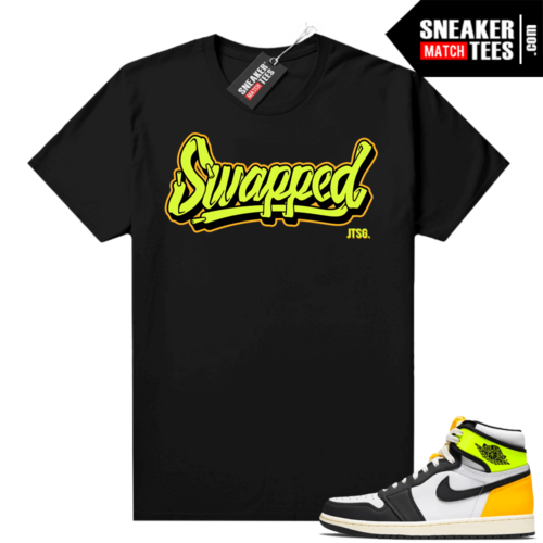 Volt Gold Shirts to match Jordan 1 Black Swapped Script JTSG