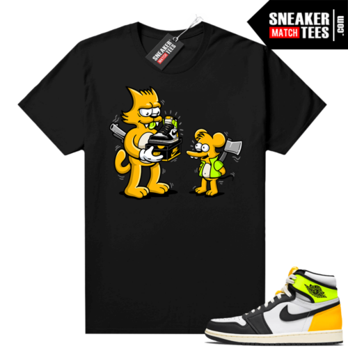 Volt Gold Shirts to match Jordan 1 Black The Flip
