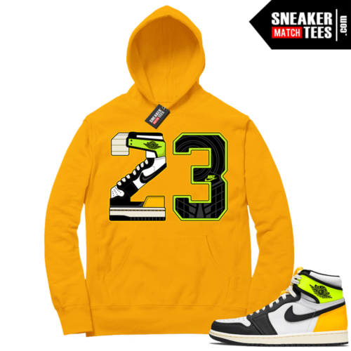 Volt Gold Hoodies to match Jordan 1 Gold 23
