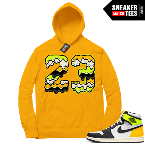 Volt Gold Hoodies to match Jordan 1 Gold 23 Drip