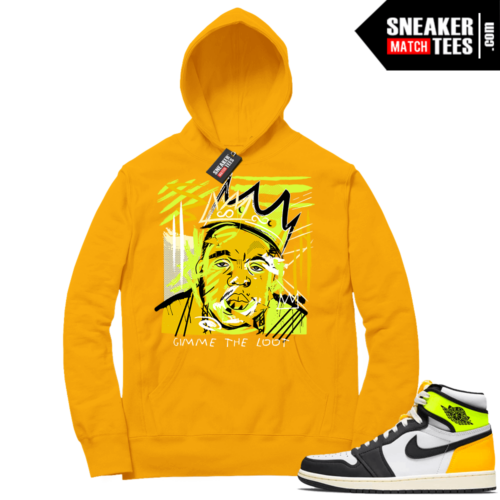 Volt Gold Hoodies to match Jordan 1 Gold Basquiat Biggie