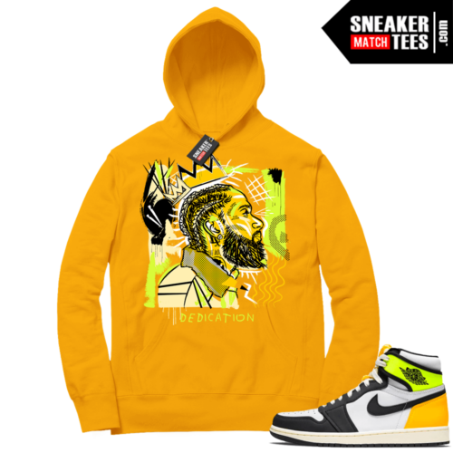 Volt Gold Hoodies to match Jordan 1 Gold Basquiat Nipsey