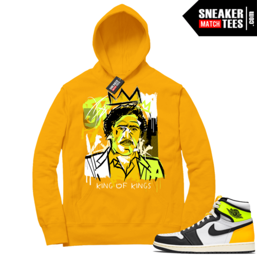 Volt Gold Hoodies to match Jordan 1 Gold Basquiat Pablo