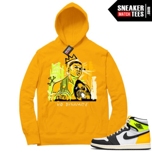Volt Gold Hoodies to match Jordan 1 Gold Basquiat Tyson