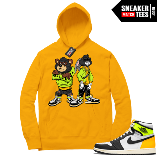 Volt Gold Hoodies to match Jordan 1 Gold Big Steppas