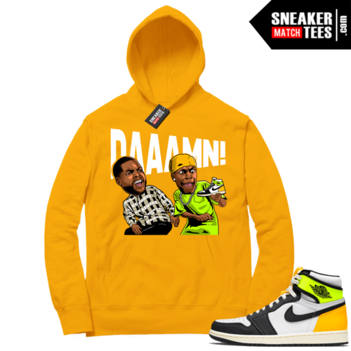 Volt Gold Hoodies to match Jordan 1 Gold DAAAMN